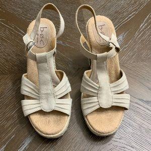 Born Concept Boc tan open toe suede wedges  9